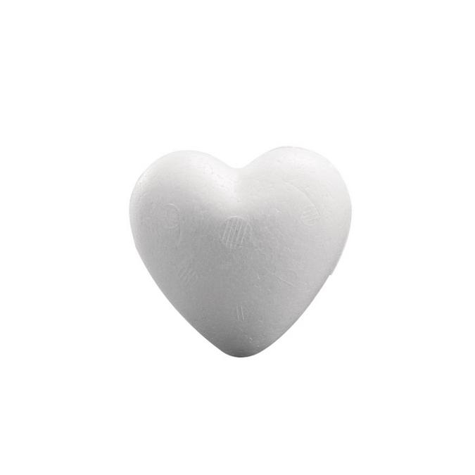 Cœur en polystyrène de 9 cm