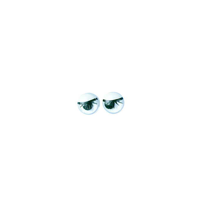 Yeux ronds avec cils et pupilles mobiles7 mm