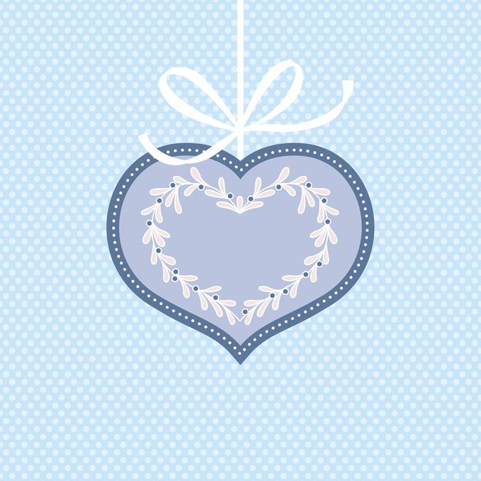 Papier Noël Givré cœur