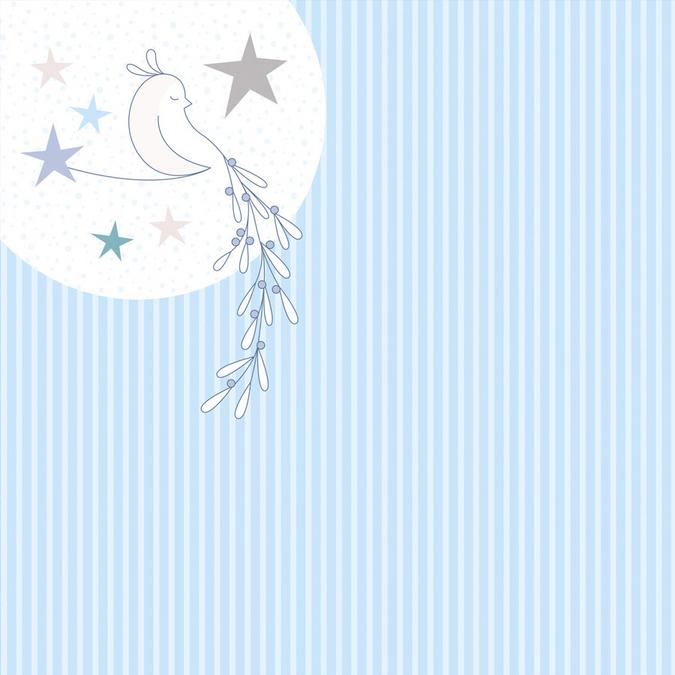 Papier Noël Givré oiseau