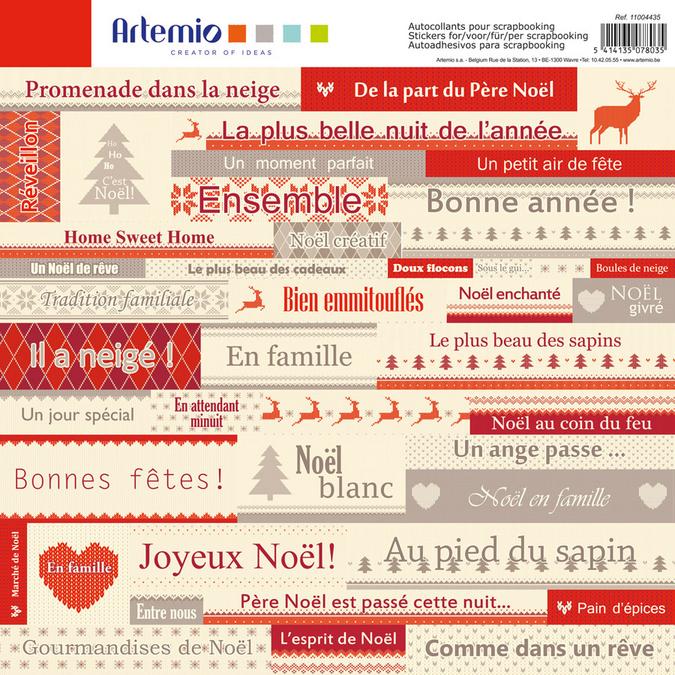 Stickers Noël Jacquard 12 x 12