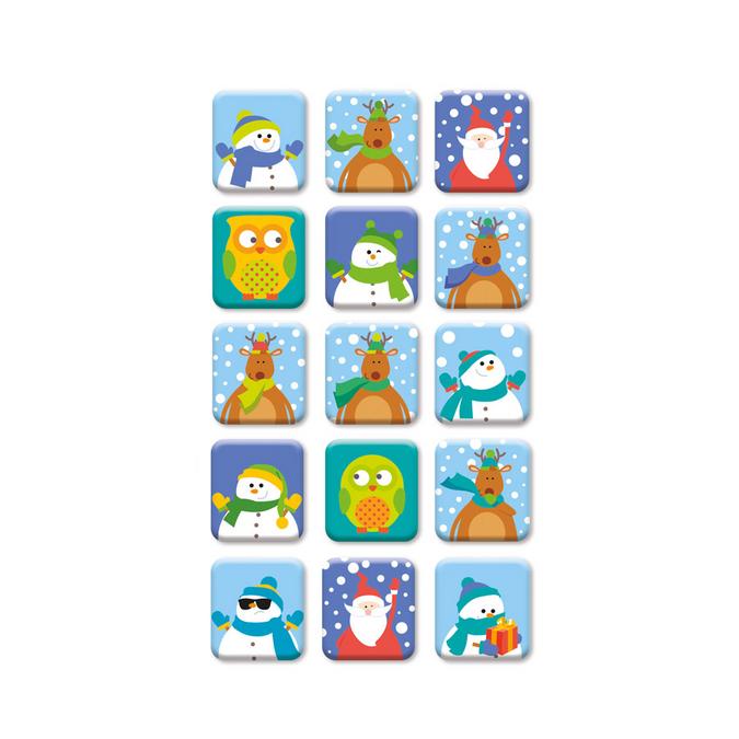 Stickers époxy fenêtres HOHOHO -