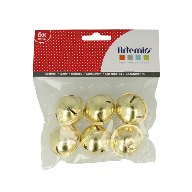 Grelots dorés - 4 cm x 6 pcs