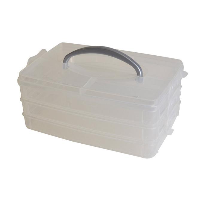 Boîte de rangement avec poignée 23 x 15,6 x 10 cm