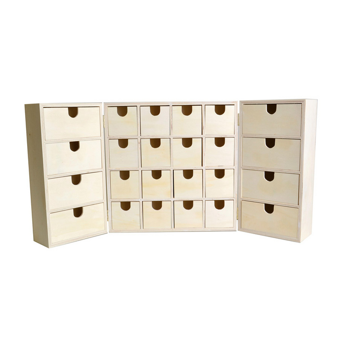 Calendrier de l'Avent armoire en Bois 27,5 x 13 x 27,5 cm Fermé