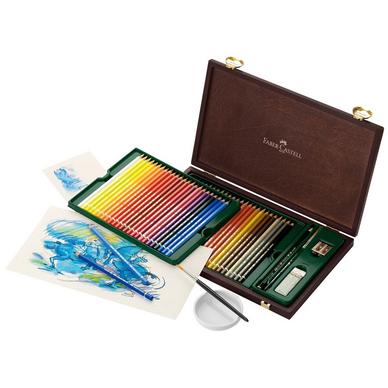crayon aquarellable albrecht dürer - coffret en bois 48 couleurs