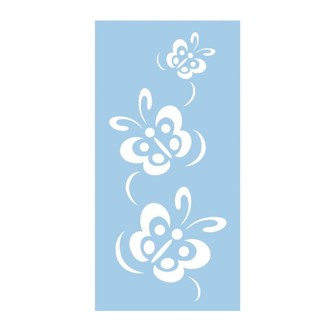 Pochoir souple envolée de papillons 15 x 30 cm