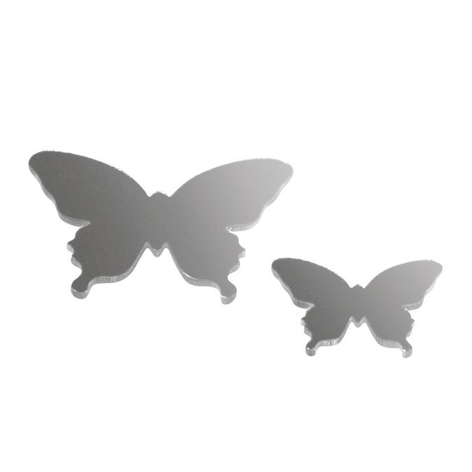 Miroir papillons en plastique