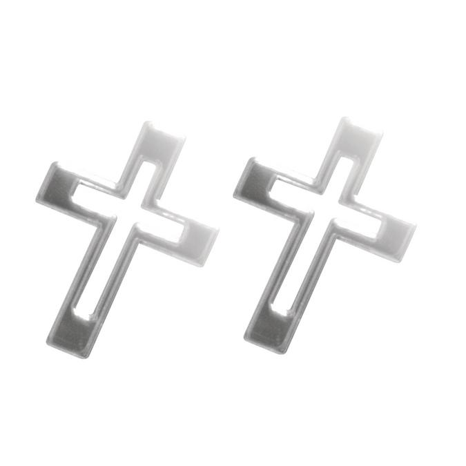 Stickers miroir croix 3 x 2 cm