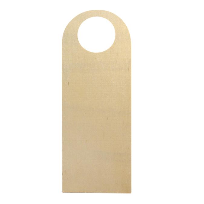 Plaque de porte à suspendre en bois 27 x 14 cm