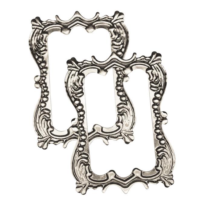 Cadre romantique en métal 11,5 x 7,8 cm