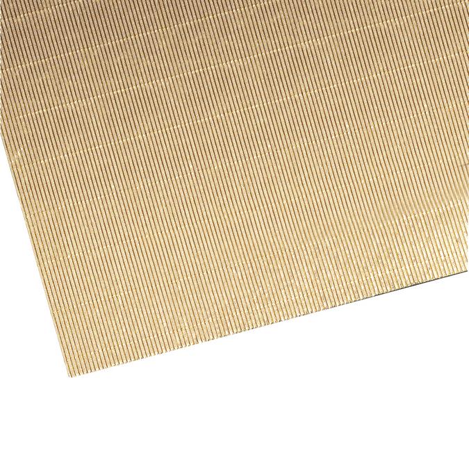 Carton ondulé métallique doré