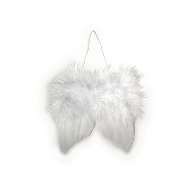 Ailes d'anges blanches en plumes 5 cm