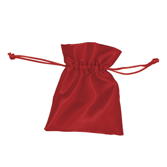 Sachets en satin bordeaux