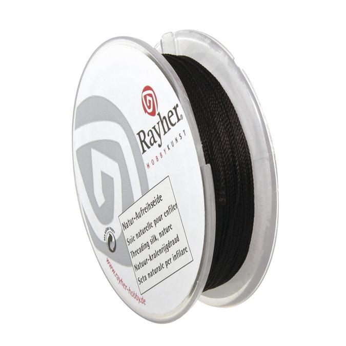 Fil de soie noir 0,35 mm x 25 m