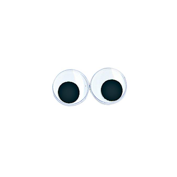 Yeux ronds avec pupilles mobiles 10 mm
