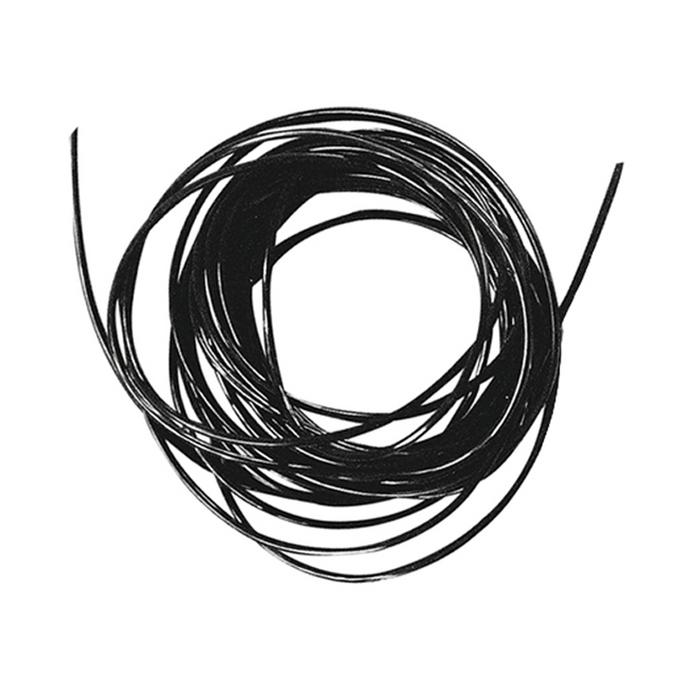 Fil élastique noir Ø 1 mm x 2 m