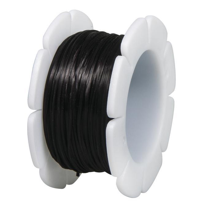 Fil élastique noir Ø 1 mm x 5 mètres