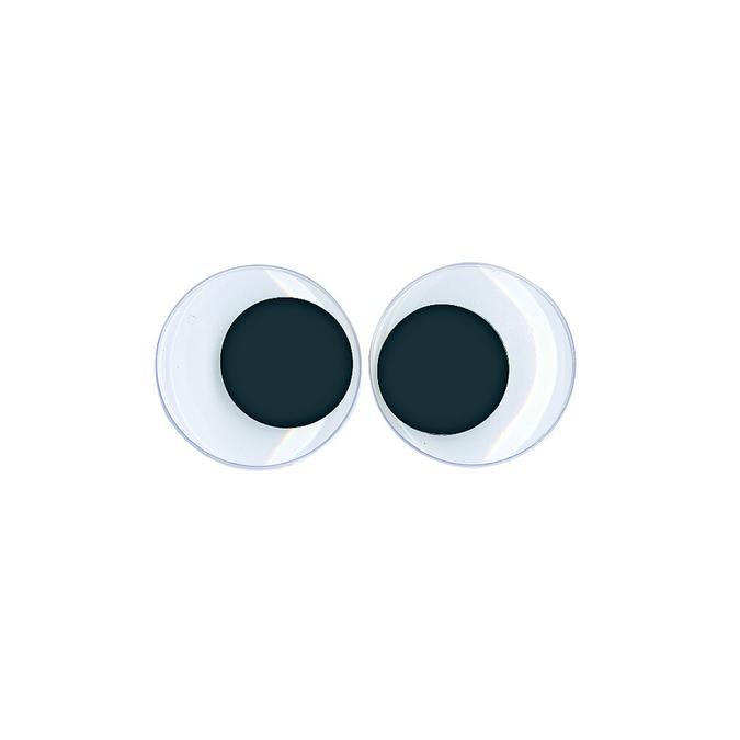 Yeux ronds avec pupilles mobiles 35 mm