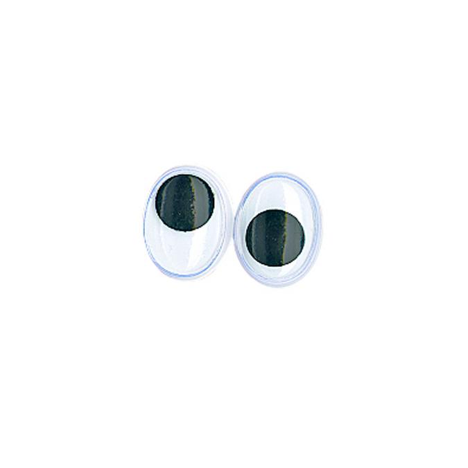 Yeux ovales avec pupilles mobiles 8 mm