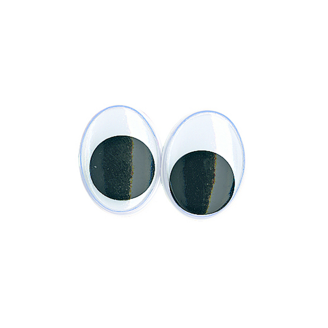 Yeux ovales avec pupilles mobiles 15 mm