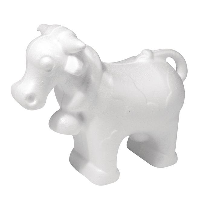 Vache en polystyrène 16 x 13 x 6,7 cm