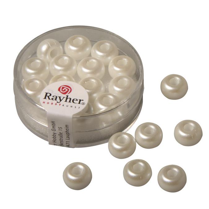 Perles en verre cirées à grand trou 9 mm x 14 pces