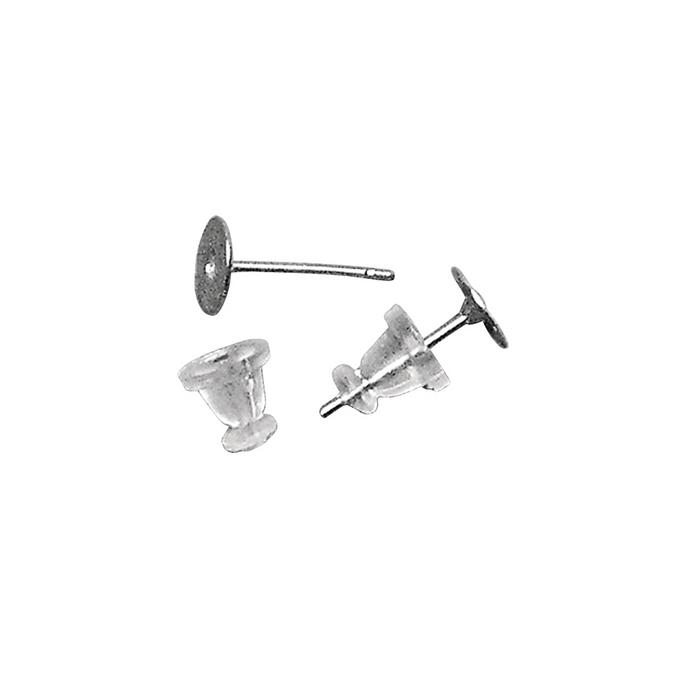 Boucles d'oreilles en acier chirusgical Ø 6 mm x 2 paires
