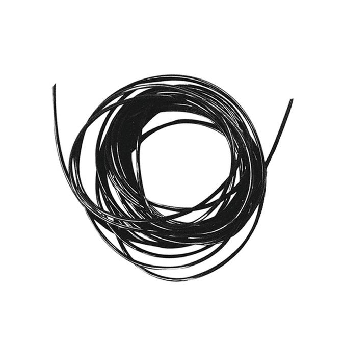 Fil élastique noir Ø 0,8 mm x 2 m