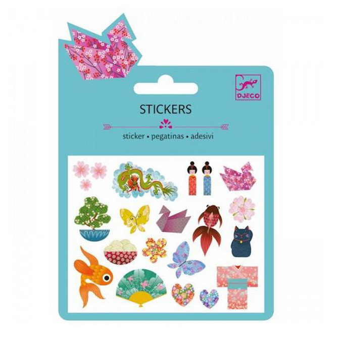 Mini stickers pailletés japonais x 19 pcs