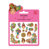Mini stickers pailletés indien x 14 pcs