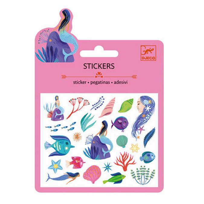 Mini stickers pailletés sous la mer x 21 pcs