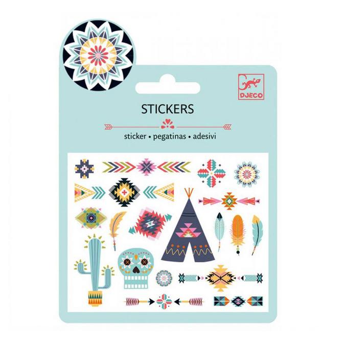 Mini stickers métallisés western x 20 pcs