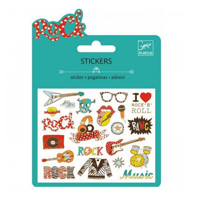 Mini stickers métallisés pop rock x 20 pcs