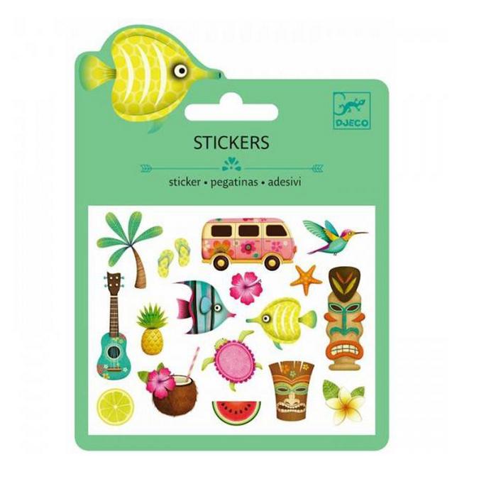 Mini stickers puffy Hawaï x 19 pcs