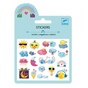 Mini stickers puffy météo x 19 pcs