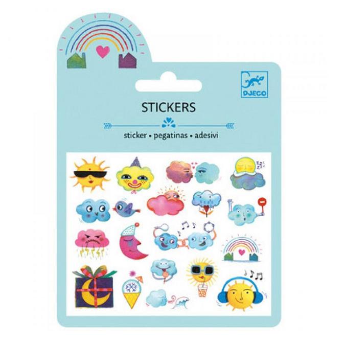 Mini stickers puffy météo x 19 pcs