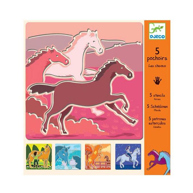 Pochoirs chevaux x 5 pcs