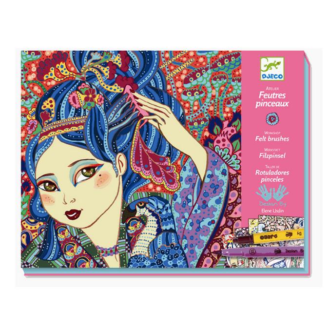 Atelier feutres et pinceaux Jeunes filles aux cerisiers
