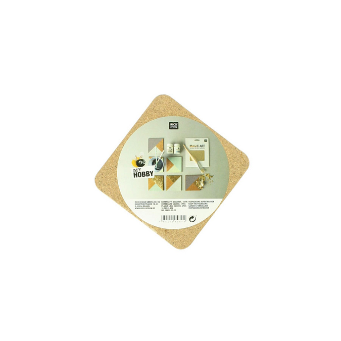 Plaque de liège carré 10 cm - ep. 6mm - par 4