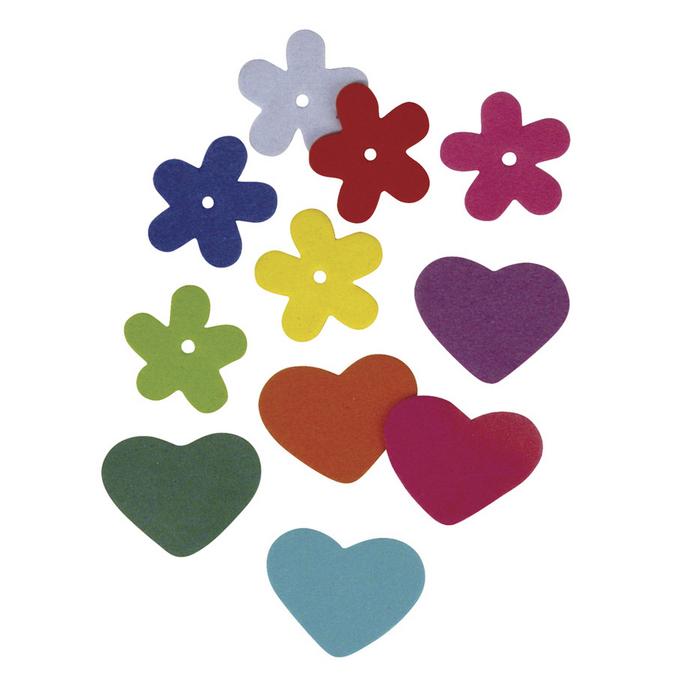 Crepla fleurs et cœurs