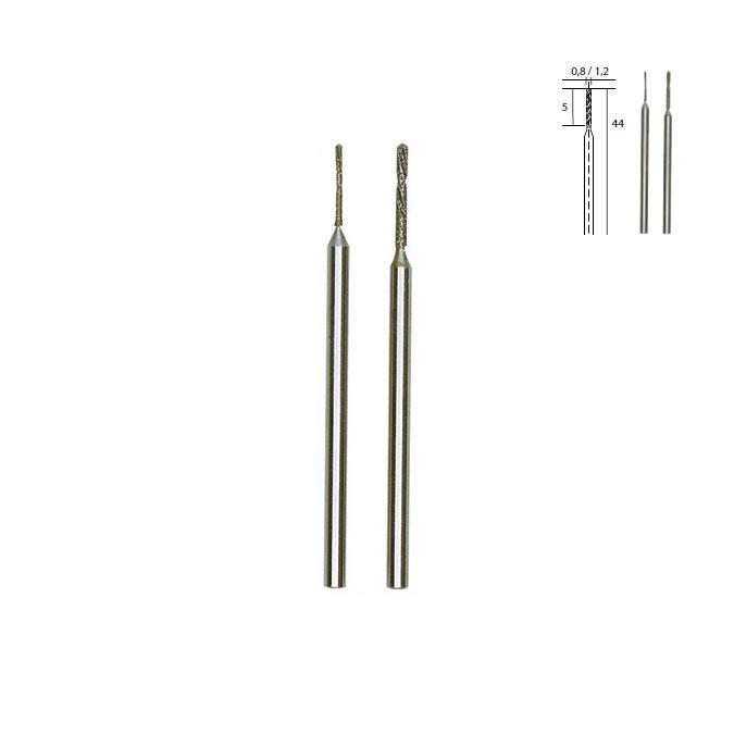 Foret hélicoïdal diamanté - Pointe Ø 0,8 mm