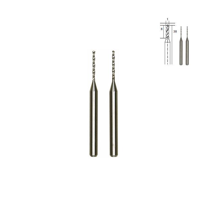 Micro-forets en métal renforcé - Ø 1 mm
