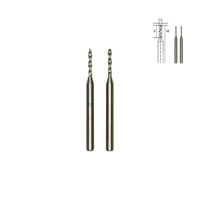 Micro-forets en métal renforcé - Ø 1,5 mm