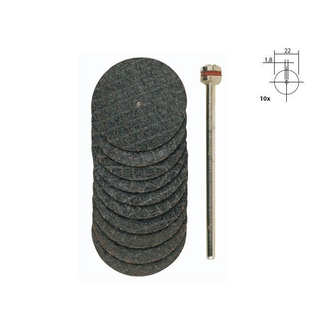 Disques à tronçonner en oxyde d'aluminium - Ø 22 mm - 10 pcs