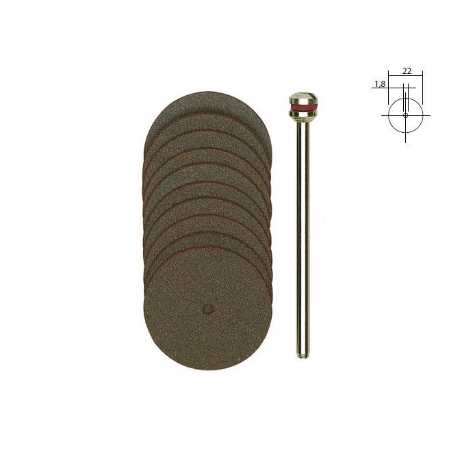 Disques à tronçonner en corindon - Ø 22 mm - 10 pcs