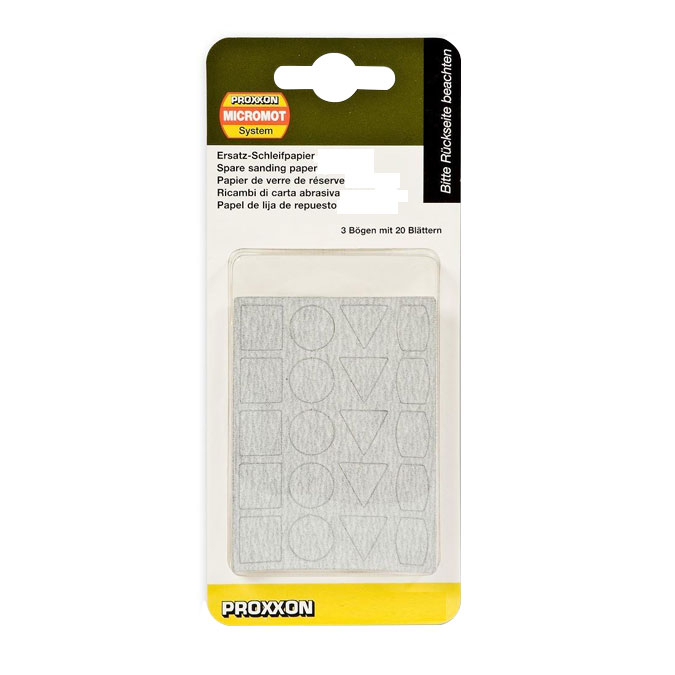 Feuilles abrasives de rechange pour ponceuse PS 13 - 20 formes x 3 - Grain 240