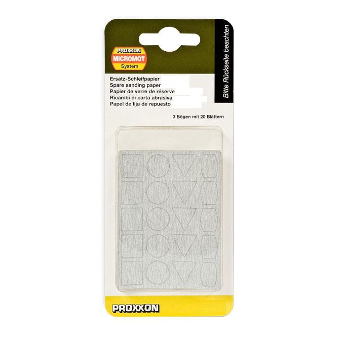 Feuilles abrasives de rechange pour ponceuse PS 13 - 20 formes x 3 - Grain 400