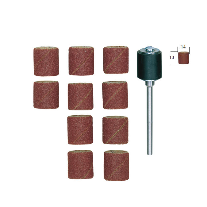 Bande abrasive en corindon - Grain 120 Ø 14 mm - 10 pcs