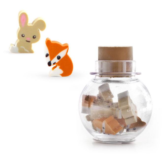 Gomme Mini animaux de la forêt - 10 pcs